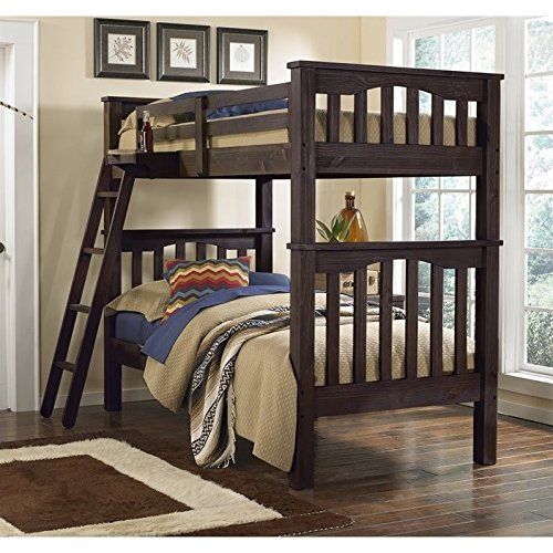 NE Kids Highlands Harper Twin over Twin Bunk Bed in Espresso
