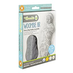 Woombie Convertible Vented Nursery Swaddling Blankets,Mint O\'s, 14-19 Pounds