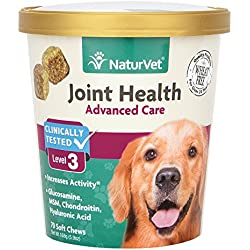 NaturVet Joint Health Advanced Care Dog Soft Chews, Pack of 70 chews