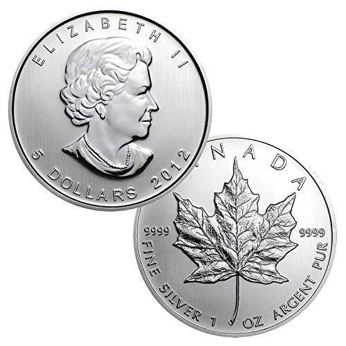 2012 Canadian Maple Leaf .9999 Silver $5 Brilliant Uncirculated (Dollar Silver Canadian)