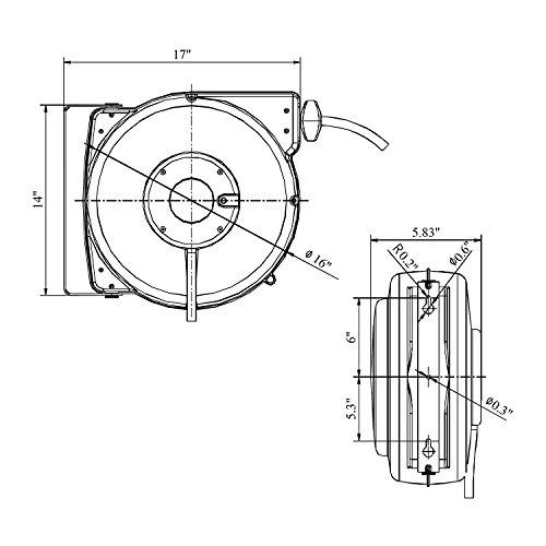 Reelworks Heavy Duty Extension Cord Reel With Swivel Bracket 14awg