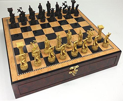 - Greek Gods Mythology Chess Set Hand Painted w/ 17