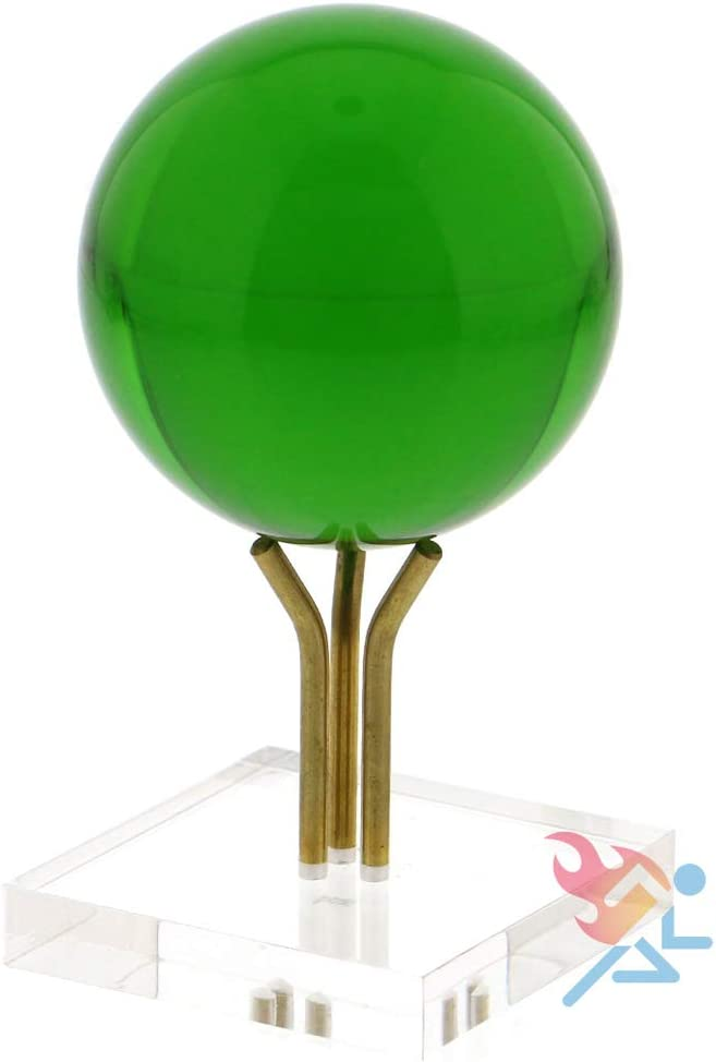 OnFireGuy 1-3//4 inch Gold Metal Pedestal Display Stand for Eggs and Spheres