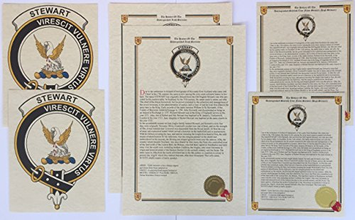 (Leslie - Scottish Clan History and Crest Print Set (2 Pack))