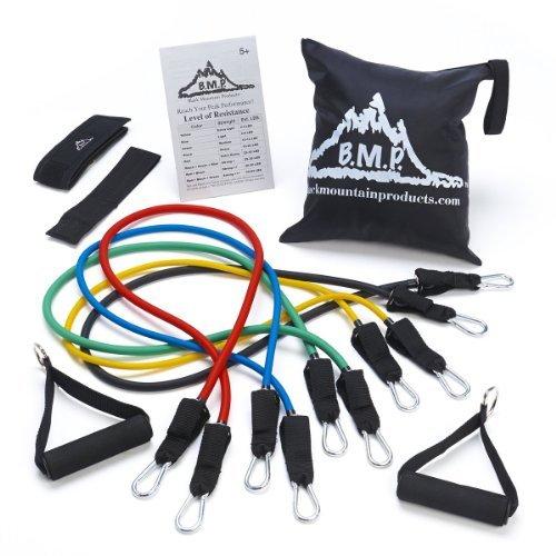 【内祝い】 Black Mountain Products Resistance Band Resistance B01BISZHNW Set with Door Anchor, Products Ankle Strap, Exercise Chart, and Resistance Band Carrying Case [並行輸入品] B01BISZHNW, 岩瀬町:d0b9da20 --- a0267596.xsph.ru