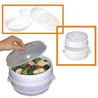 Handy Gourmet 83-5001V White 2 Tier Microwave Steamer (B000U6BPL2) | Amazon price tracker / tracking, Amazon price history charts, Amazon price watches, Amazon price drop alerts