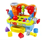 Early Education 18 Month Olds Baby Toy Plastic Workbench Pretend Play Tool Set for Children & Kids Boys and Girls