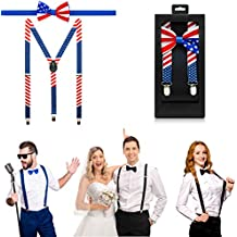 McWay Bowtie and Suspender Set For Men, Adults | Premium Quality | With Gift Box | Wide And Adjustable | Classy Design