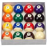 GSE Games & Sports Expert 2 1/4-Inch Regulation Size Art Number Seyle Billiard Pool Ball Set