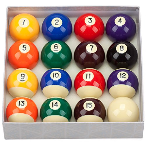 GSE Games & Sports Expert 2 1/4-Inch Professional Regulation Size Billiard Pool Ball Set