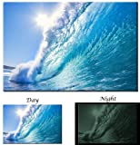Picture Sensations Glow in The Dark Canvas Wall Art, Ocean Wave