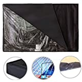 LianLe Outdoor TV Cover,Black Transparent Film Visible Waterproof TV Cover Protector for LED TV, Built In Remote Controller Storage Pocket,More Size
