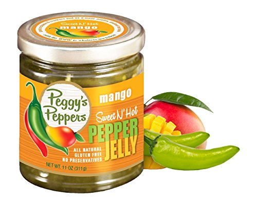 Peggy's Peppers Pepper Jelly Peggy's Mango Pepper Jelly, 11 oz - Mango Jelly Pepper