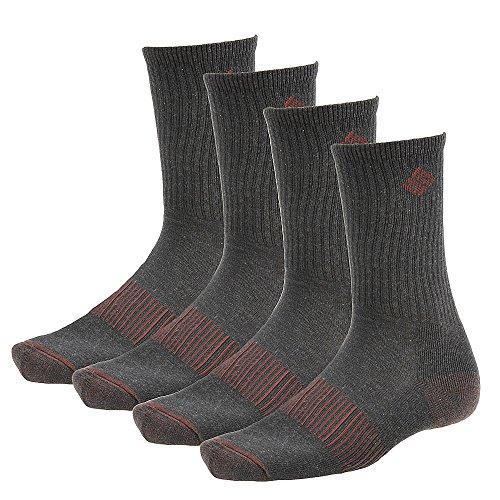 Columbia Socks Men (Columbia Men's Heather Crew Socks, Black, 10-13/Shoe Size 6-12 (Pack of)
