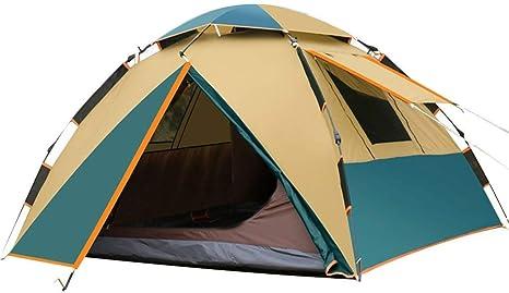Zmsdt 3-4 Personas Tienda de campaña Tiendas de campaña Mochilas Hexágono Cúpula Impermeable Pop-Up automática Tienda de Deportes al Aire Libre Camping Sun Shelters (Color : Azul): Amazon.es: Deportes y aire libre