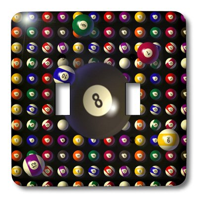3dRose lsp/_165223/_2 Pool Balls Pattern Light Switch Cover