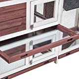 Purlove Pet Rabbit Hutch Wooden House Chicken Coop