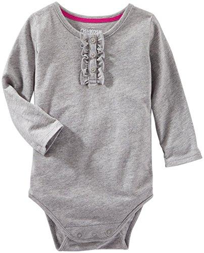 - OshKosh B'Gosh Baby Girls' Sparkle Knit Bodysuit (Baby) - Heather - 3 Months