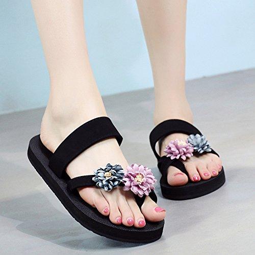 Mode Pied Cool Sandales Loisirs Plat Pantoufles Extérieur Tongs Flyrcx C Femme Fond Pour qS15wxX
