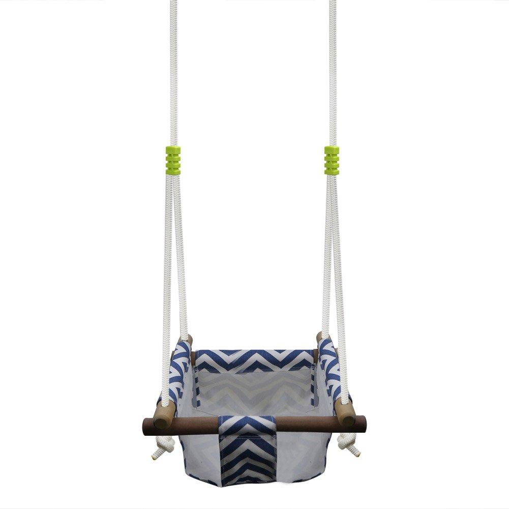 Pellor baby toddler canvas swing seat hammock chair indoor for Indoor swing seat