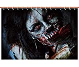 iPrint Unique Shower Curtain [ Zombie Decor,Scary Dead Woman with Bloody Axe Evil Fantasy Gothic Mystery Halloween Picture,Multicolor ] Decorative Curtain Ideas