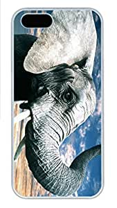IPhone 5/5S Case Elephant Silhouette HAC1014235 PC Hard Plastic Case for iPhone 5/5S Whtie
