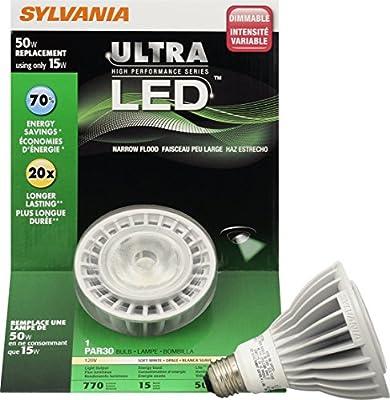 Sylvania 78494 13 Watt Ultra LED PAR30LN Dimmable Long Neck Halogen Lamp, Replaces 50 Watt