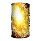 Bandana Headband Outdoor Daily Yoga Magic Headscarf Multifunctional UV Protection Bundle golden explosion gold glittering burst glowing stars dust firework light effect sparkles splash powder