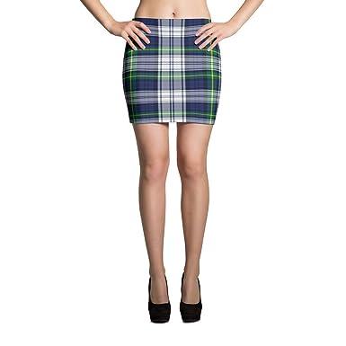 bd9b268c7c MyThirdCloset Womens Mini Skirt Blue, Yellow, Green White Plaid Mini ...