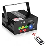 SUNY Laser Lights for Party Sound Activated Music Laser Projector 80 Combinations 5 Lens Gobos Laser Lights Blue LED Remote Control Stage Lighting Red Green Home Holiday DJ Light Live Show Party Dance
