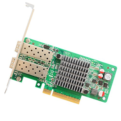 IO Crest 2 Port 10 Gigabit PCI-E x8 NIC Network Card Intel Chipset Components Other SY-PEX24049