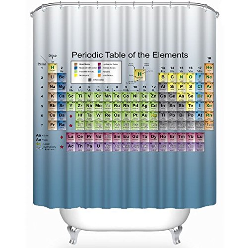 180*180CM Periodic Table of Elements Waterproof Bathroom Shower Curtain - 9