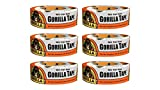 Gorilla 6025001-6 Duct Tape (6 Pack), 1.88'' x 30 yd., White