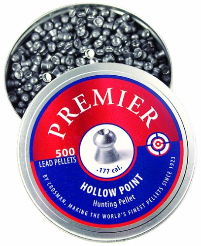 - crosman hollow point pellets, 0.177-calibre, 500 count(Airsoft Gun)