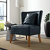 WE Furniture AZH31UPCBBU Modern Accent Chair, Navy Blue