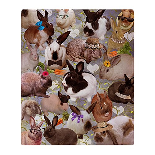 CafePress - Happy Bunnies - Soft Fleece Throw Blanket, for sale  Delivered anywhere in USA