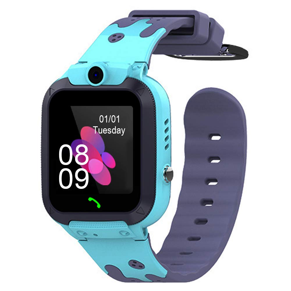 Kids Smart Watch, Smart Watch for Kids Compatible with 2G T-Mobile, LBS Fitness Tracking, IP67 Waterproof, 1.54 Inch Colorful Touch Screen, SOS, Games and Camera Kids Smart Watches Boys Girls