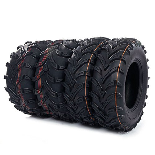 Tires 2 of 25x8-12 Front and 2 of 25x10-12 Rear /6PR P377 (6 Wheel Atv)