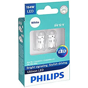 Philips 194 Ultinon LED Bulb (White), 2 Pack
