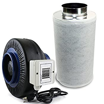VenTech VT Inline Duct Fan with Carbon Filters