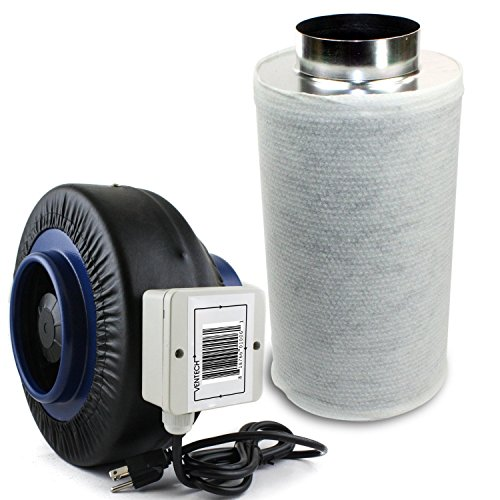 6 inch duct fan carbon filter - 8
