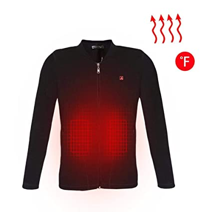 Chaqueta calefactable USB Smart Electric para hombre, calor, ropa interior térmica, fibra de