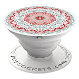 PopSockets: Collapsible Grip & Stand for Phones and Tablets - Aztec Mandala Red
