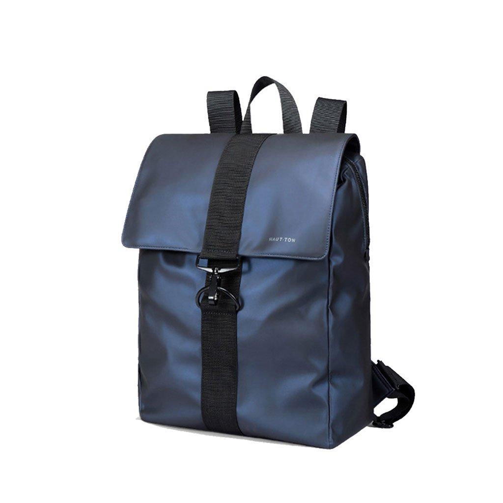 バックパックバックパックメンズカジュアルな旅行多機能大容量ファッションバッグビジネスバッグメンズ (色 : 濃紺) B07DXKRM1N 濃紺