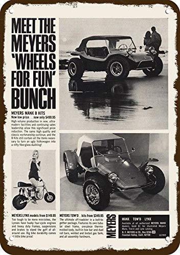 Yilooom 1969 Meyers Manx Tow'D Dune Buggy Vintage Look Replica Metal Sign 7
