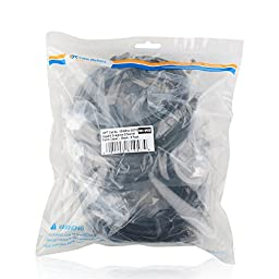 Cable Matters 5 Pack, Cat6a Snagless Shielded (SSTP/SFTP) Ethernet Patch Cable in Black 14 Feet