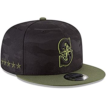 super popular 38979 7bbbc New Era Authentic Seattle Mariners Memorial Day Salute to Service 9Fifty  Snapback Hat Cap One Size