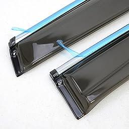 Kadore For Nissan Murano 2015 2016 ABS Plastic Window Visor Shelter Trims 4pcs