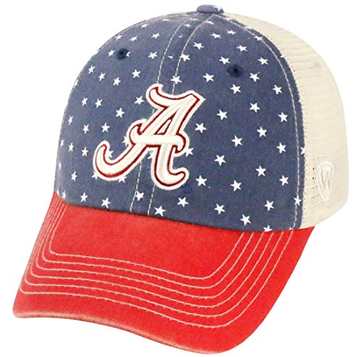 Alabama Crimson Tide NCAA Top of the World ''Freedom'' Adjustable Mesh Back Hat by Top of the World