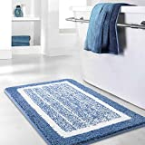 Best Bath Rugs - Bathroom Rug Mat,Blue Bath Rug Mat, Ultra Soft Review